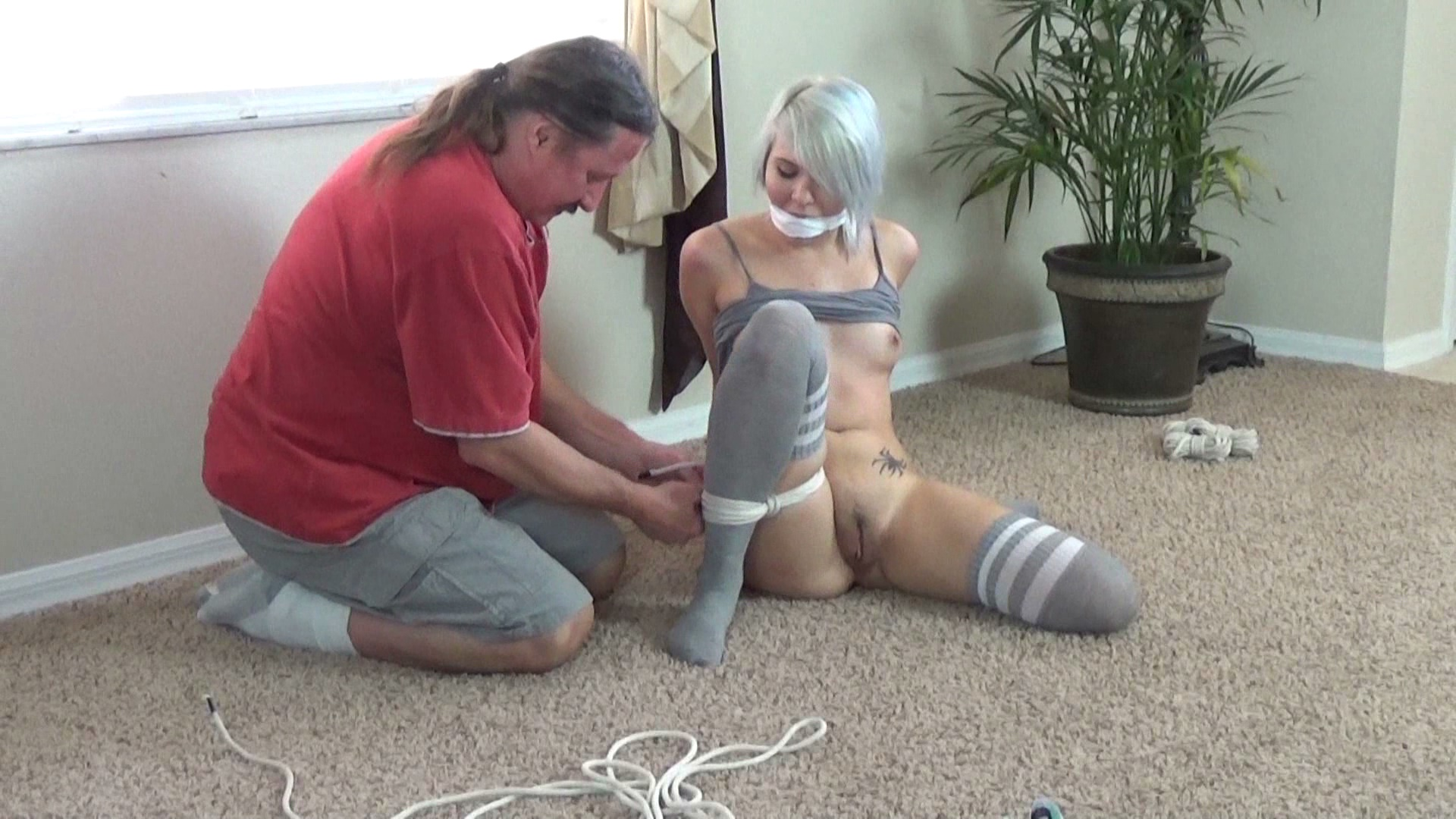 After Daddy Tied Me Up He Put His Fingers In My Tight 18 Year Old Pussy