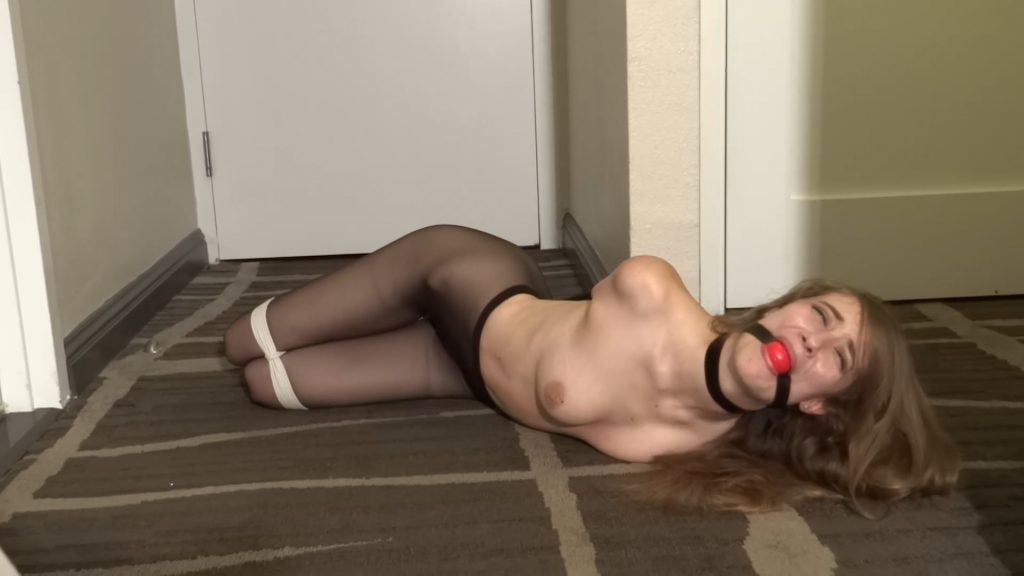 Samantha Hayes' Sexy Hogtie Struggles