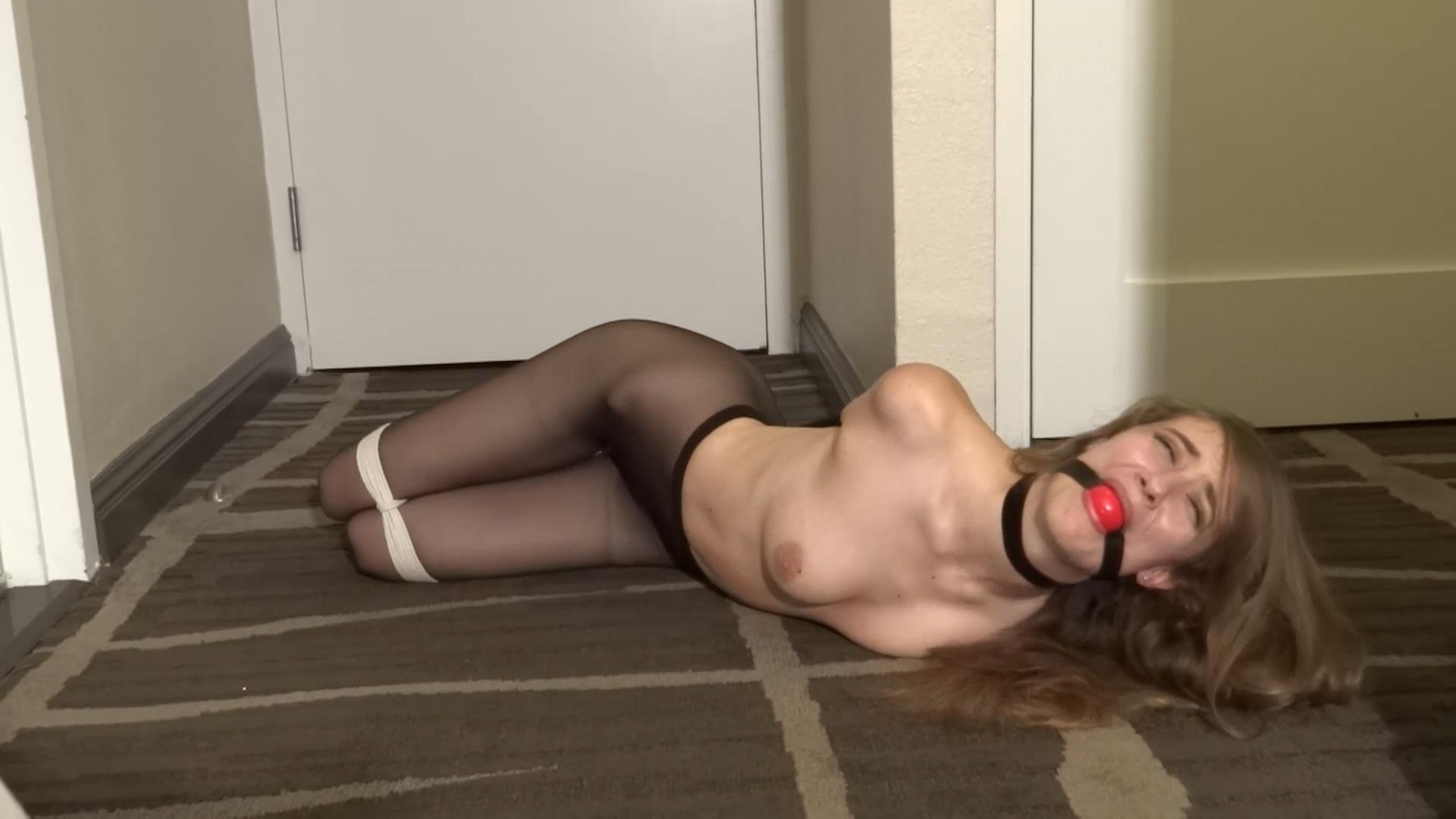 Samantha Hayes Sexy Hogtie Struggles