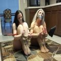 Two Captive MILFs in Nothing but Pantyhose