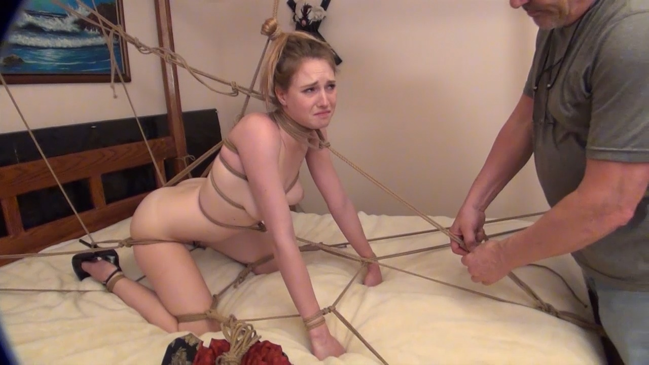 Ashley Doggy Style Bondage For Sex Position