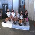 FIVE Hogtied MILF Secretaries Held Hostage in the Warehouse