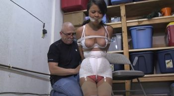 Help Mom! The creep across the street has me tied up and gagged in his garage!