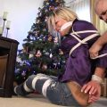 MILF Housewife bound and gagged under the Christmas Tree