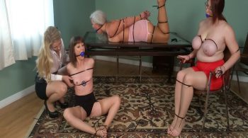 Sandra, Ruth & AJ, 3 Zip-Tied MILFs in Girdles, Groped by Mistress Lisa! #1812 HD
