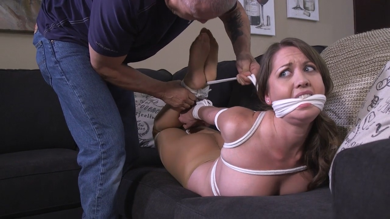 They got what they wanted and now they have me bound and gagged in just my pantyhose