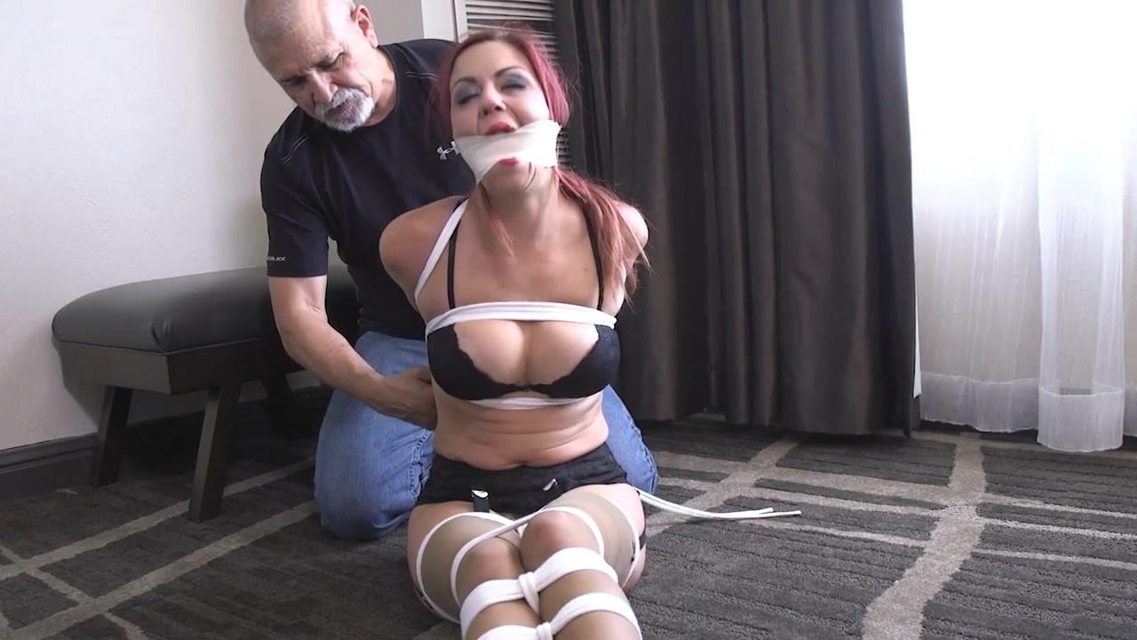 Tied tight and Oh My Gosh! I am gagged! Please choke me until I cum