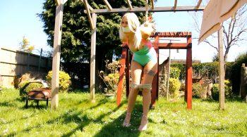 Outdoor Strappado starring Elyssia