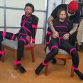 Sakura and Simone Captured and Chairtied