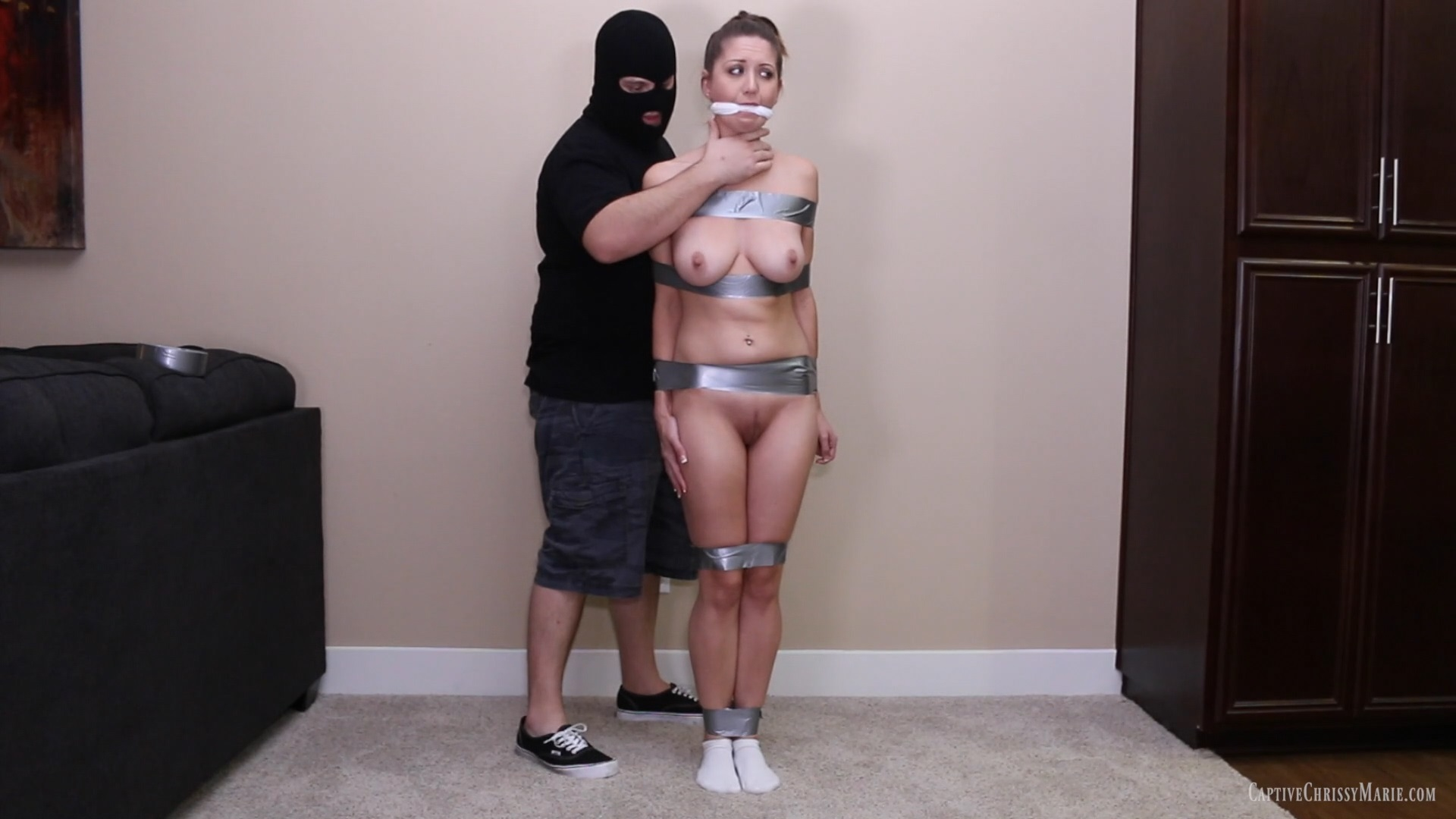 Wrapped and Gagged For Shipment