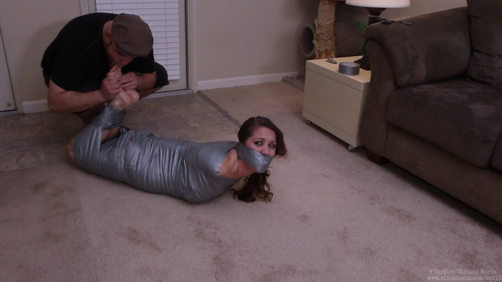 image Hogtie and duct tape gag hott chick w tattoos
