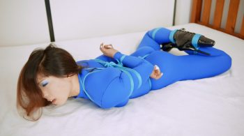 RS-164 Movie – Blue Catsuit Bound – Mina