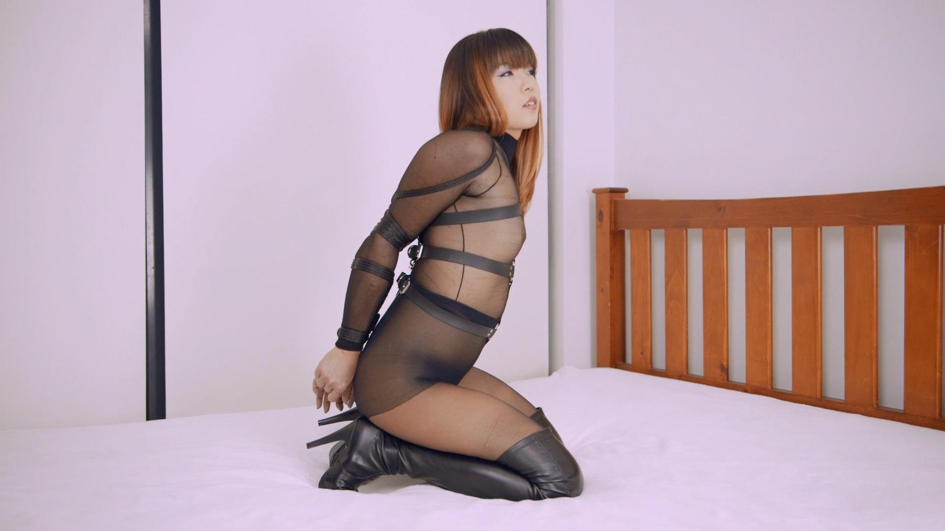RS_175 Movie_Black Pantyhose Hogtie