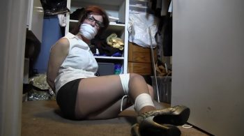 They had Aunt Sara tied up and gagged in Mom's closet – Girl Next Door Bondage