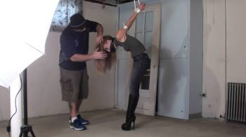 Booted Strappado for Rachel! – TIED IN HEELS