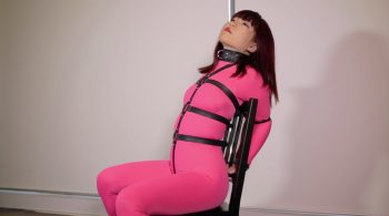 RS-116 Movie – Pink Catsuit Ring Gag – Mina