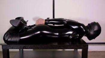 RS-117 Movie – Black Catsuit + Hood & Belts – Mina