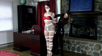 Terra Mizu & Serene Isley – Terra's Tangle With The Catburglar – Serene Isley's Bound Beauties