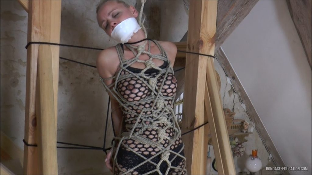 Full Body Bondage For Tapegagged Coco – Mistress Roxanne Fox & her girls