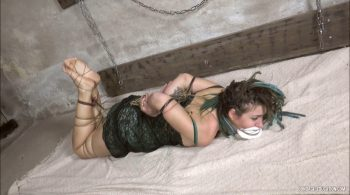 Hogtied With Jute Yarn and Leather Bands – Aurelia – Mistress Roxanne Fox & her girls