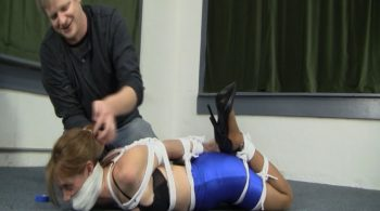 Madalynn – Blue Hottskirt Hogtie – Serene Isley's Bound Beauties