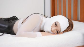 RS-214 Movie – White Fetish Package Hooded Armbindered Strapped – Mina