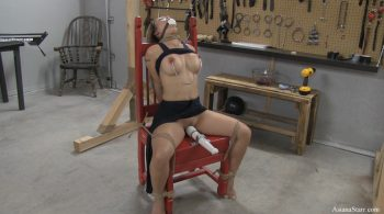 Saturday Night Live Part 1 – Tied on a Chair and Left to Cum – ASIANA STARR BONDAGE