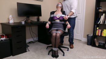 Secretary Bound For Discipline – Captive Chrissy Marie