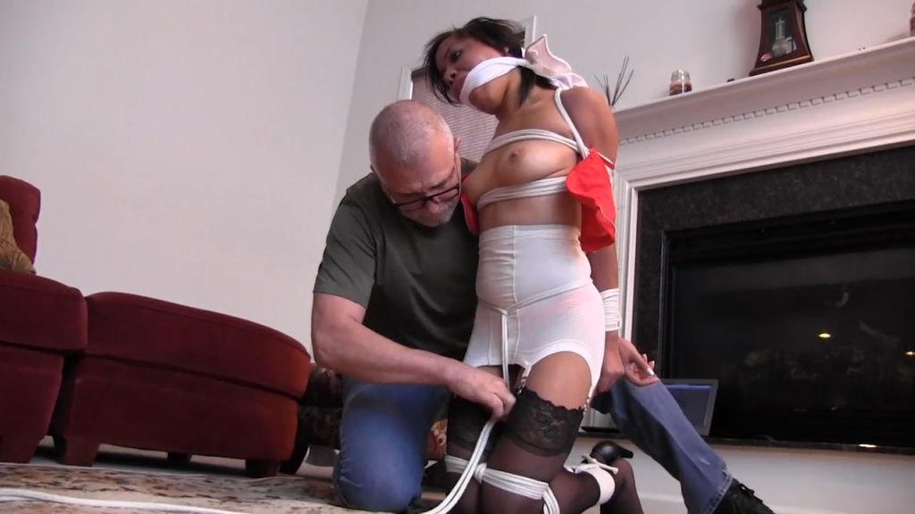 I bet mom and dad don't know you let men tie you up! – Monica Jade – Girl Next Door Bondage