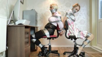 Tlula, Chloe & Lacey in: Unlucky Spy Babe Interrupts a Robbery Going Down in the Very Next Room – So She's Bound & Gagged Too! – Borderland Bound