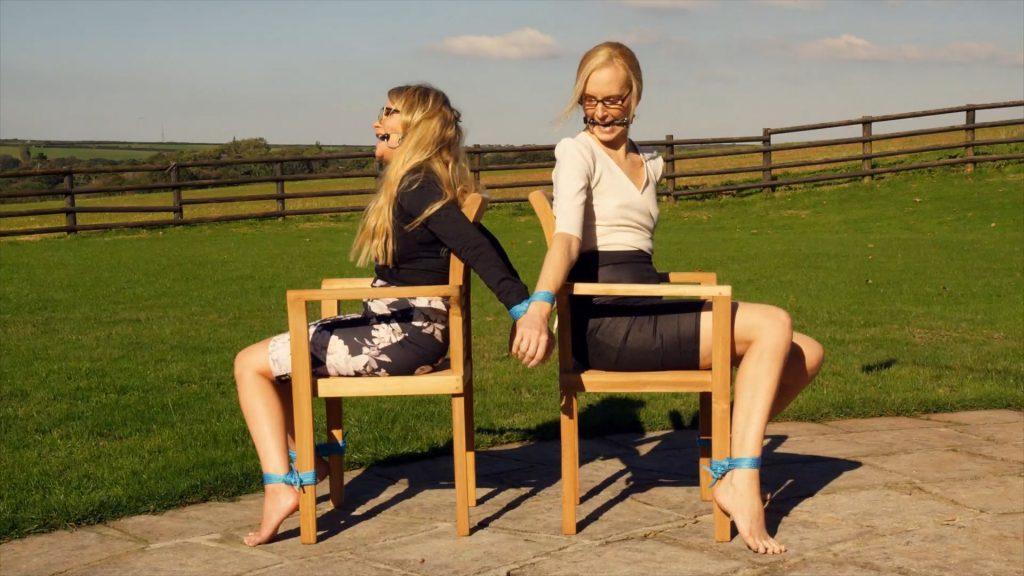 Business Girls Back To Back – Penny Lee, Ariel Anderssen – Restrained Elegance