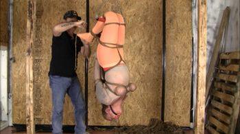 Hanging Panty Hosed Hogtie – Brendas Bound Bondage Addictions