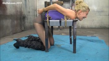 Sidnay Adams tied over the chair – Bondage by Anthony Peters (DizDat)
