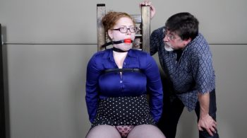 Mabel Syrup – Strapped, drooling and soon to be shipped! – Cinched and Secured