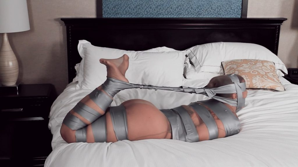 Fayth on Fire – Tape Tied, Pantyhose Encased and Mummified! – Cinched and Secured