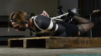 IR Hogtied in Blazer, Skirt, Garter, Stockings, and Heels – Part 1 – Illustrious Rouge – Futile Struggles
