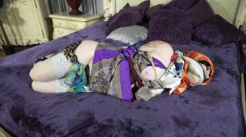 Mizz Amanda Marie, sensual in satin – Born to be Bound