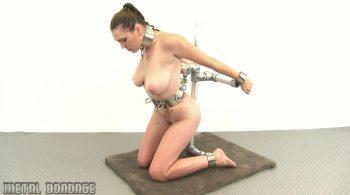 Sam Lee – kneeling frame – Metal Bondage