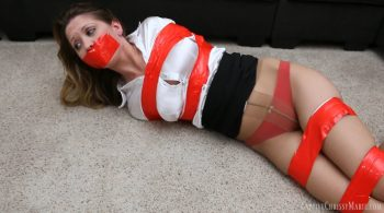 Stuck In Red Tape – Captive Chrissy Marie