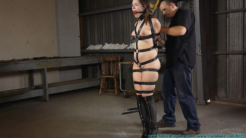 Tight Leather Bondage for Rachel – Part 1 – Futile Struggles
