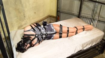 Vesper Luna.. Helplessly Belt Bound and Muzzled – ShinyBound Productions