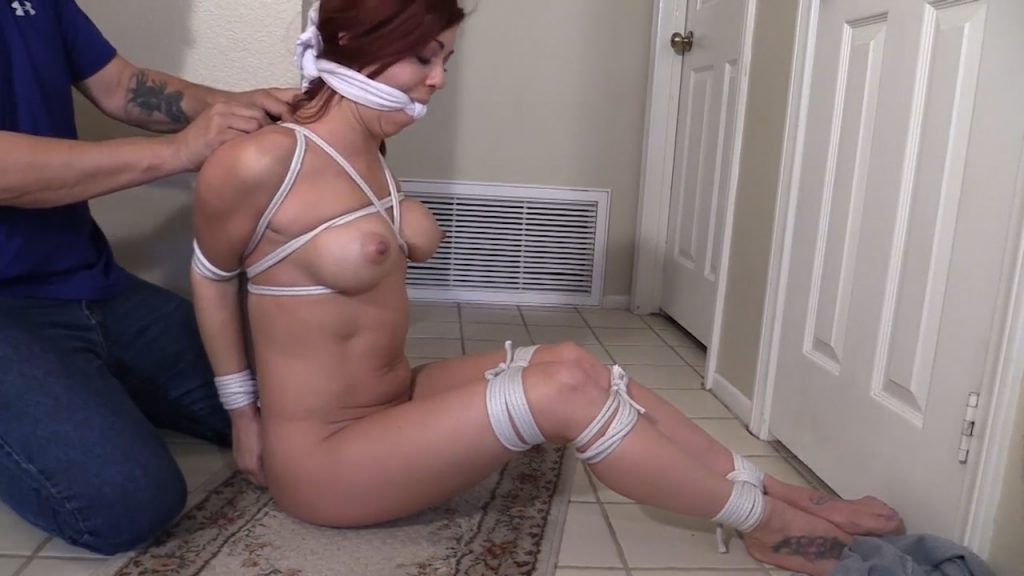 Girl Next Door Bondage – As I lay here bound and gagged, I realize trying to escape wasn't such a good idea!