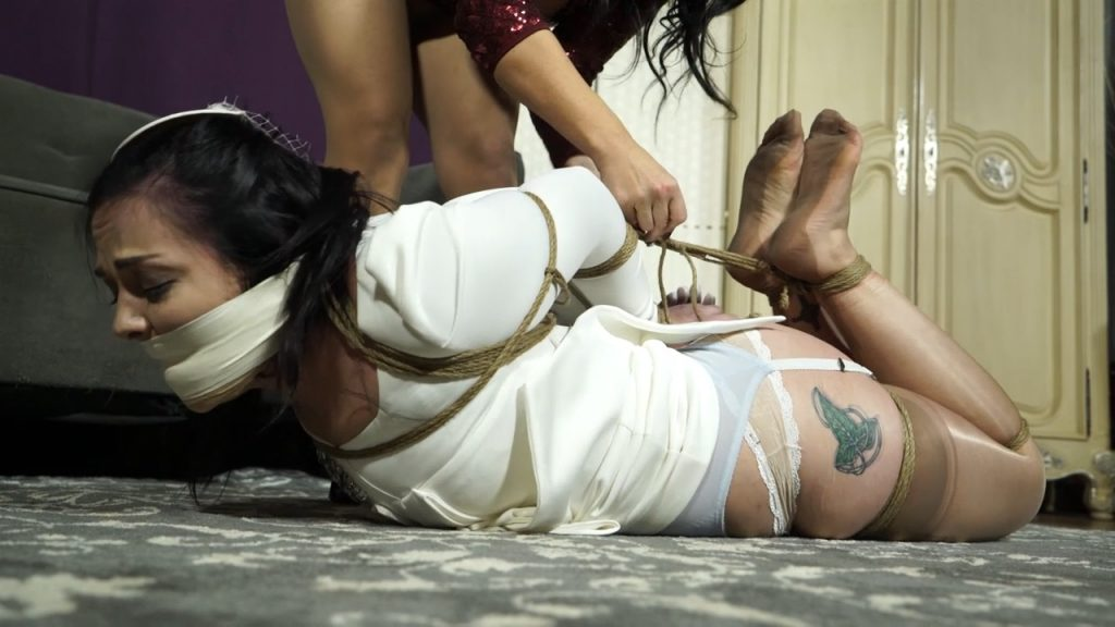 Bride not to be gagged with her own glove – Bondage: JJ Plush, Born to be Bound