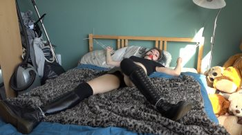 Luna Grey – Day Drunk With Dr. Martens Boots Custom HD – Restricting Ropes