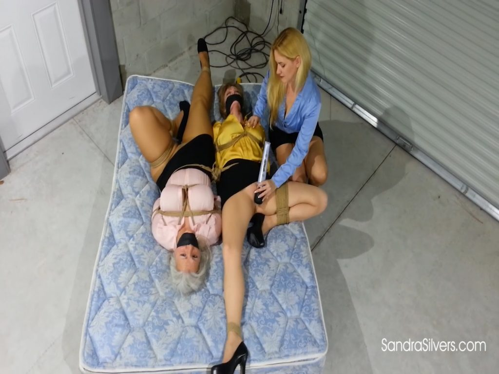 Sandra Silvers – Please Tie Me Up – Blond Ladyboss Delivers Bondage Orgasms to Buxom MILF Secretaries in the Warehouse! #1956 HD