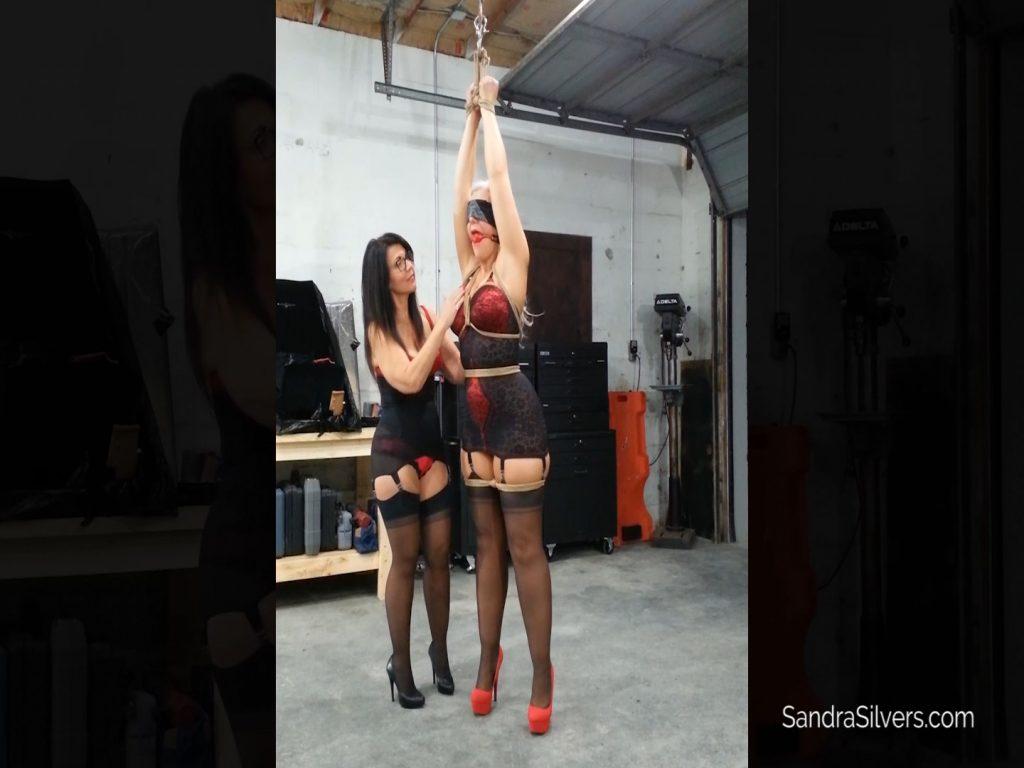 Gigi squeezes MILF on MILF Bondage Orgasms out of Girdled Sandra! #1959 HD – Sandra Silvers – Please Tie Me Up