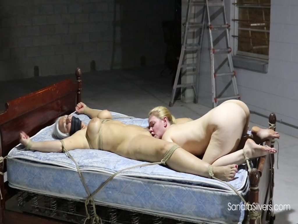 Naked Bound Blonde Sex Slave Made to Perform Oral on Spread Eagle Curvy Captive! #1962 HD – Sandra Silvers – Please Tie Me Up