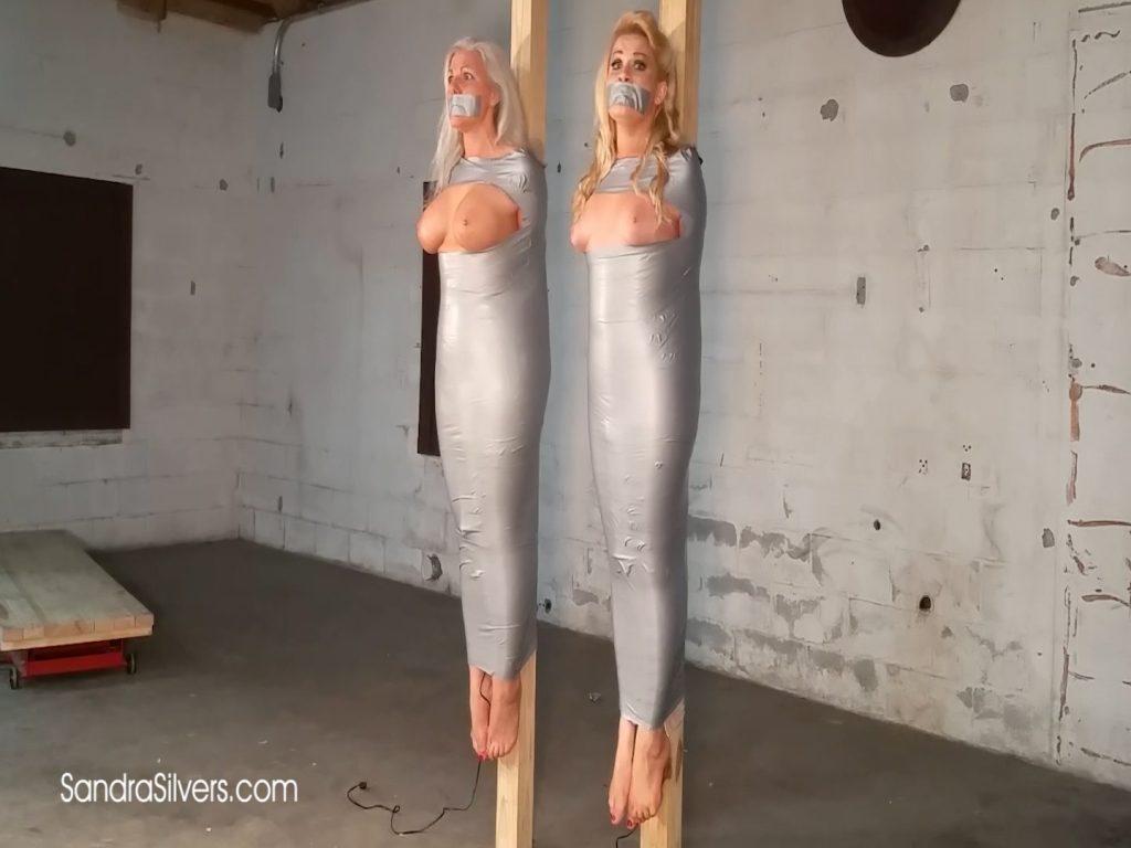 Two MILF Mummification! Sandra & Whitney Mummified Off the Ground! Bonus Bound Orgasm! #1942 HD – Sandra Silvers – Please Tie Me Up