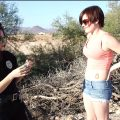 Violet Pixie is found trespassing She is searched and arrested by Officer Persephone