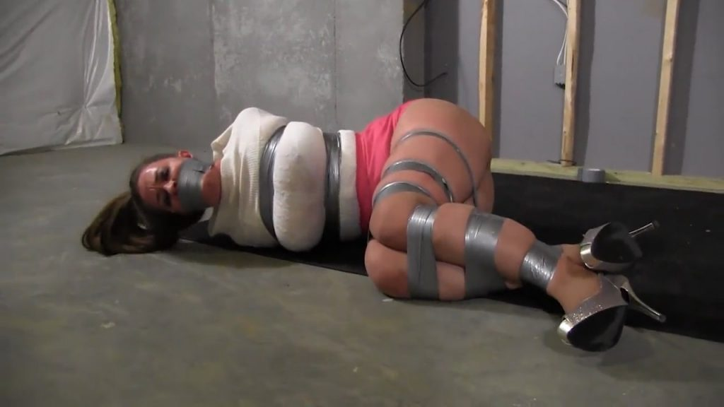 Curvy Girl aken hostage and taped up tight – Mouth Stuffed and Tied Up Girls